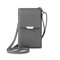 Women Multi-function 6.5 Inch Phone Purse 6 Card Slot Card Holder Anti Theft Solid Crossbody Bag - Gray