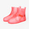Unisex Waterproof Reusable Outdoor Boots Covers High Top Non Slip Foot Cover Protect - Pink
