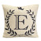English Letters Olive Branch Pattern Bed Throw Pillow Case Cushion Cover Home Sofa Decor - E
