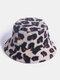 Cappello da pescatore da donna in pelliccia di coniglio Modello casual caldo tutto-fiammifero - bianca