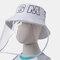 Detachable Face Screen Children's Sun Hat Windshield Fisherman Hat - White