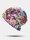 المرأة القطن الأزهار ورقة نمط مطبوعة تو كاب قبعة قبعة إسلامية - #07