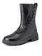 Casual Lace-up Special Design Platform Boots For Women - Black