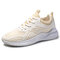 Men Fabric Breathable Light Weight Sport Casual Running Sneakers  - Beige