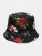 Women & Men Floral Overlay Print Pattern Casual Outdoor Visor Bucket Hat - #06