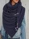 Женское Вельветовые повседневные шарфы с запахом шали Универсальный толстый теплый нагрудник с шалью - синий