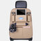 5 Styles Leather Multi-Function Car Storage Bag Car Seat Storage Container Hanging Bag Outdoors Bag Folding Dining Table - Beige