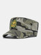 Men Cotton Camouflage Embroidery Print Susnhade Outdoor Casual Flat Hat Peaked Cap Military Hat - Camo