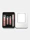 4 Pcs Stainless Steel Nail Clippers Set Portable Iron Box Travel Manicure Pedicure Grooming Set - Rose Gold