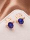 Christmas Crystal Gem Women Ear Stud Stereoscopic Reindeer Earrings - #10