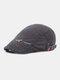 पुरुषों सूती ठोस रंग आकस्मिक फैशन Sunvisor फ्लैट टोपी आगे टोपी टोपी टोपी - धूसर