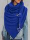Женское Вельветовые повседневные шарфы с запахом шали Универсальный толстый теплый нагрудник с шалью - Синий1