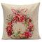 Рождественский снеговик Санта-Клаус Печать Хлопок Льняная Подушка Обложка Квадратное украшение дома Подушка