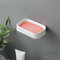 1Pc Soap Holder Double-Layer Bathroom Accessories Plastic Shower Soap Dish Non-Slip Draining Tool Drainage Household Soap Box - Pink