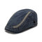 Men's Fashion Beret Cap Spring And Summer Washed Cotton Cap Outdoor Travel Newsboy Hat - Navy