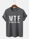 メンズレタープリントクルーネック綿100%半袖Tシャツ - 暗灰色