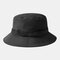 Breathable Collapsible Basin Hat Automatic Buckle Fisherman's Hat - Black