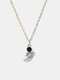 Personality Standing Astronaut Pendant Men Necklace Star Women Sweater Chain Jewelry Gift - #02