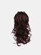4 цвета длинное вьющееся волокно Парик повязки Волосы высокотемпературное - #03