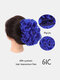 30 Colors Big Steel Fork Hair Ring Wig Updo Cover Fluffy Chemical Fiber Wig Piece - #21