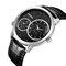 CRRJU reloj para hombre dos movimientos reloj de pulsera militar cuero cuarzo negocios relojes de lujo - Plata + negro