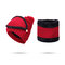 Women Winter Warmer Knitted Face Hat And Neck Collar Scarves Set With Artificial Fur Pompom Hat - Red