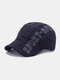 Men Cotton Letters Print Outdoor Casual Sunshade Forward Hat Beret Hat Flat Hat - Navy