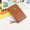 Women Leisure Crossbody  Wallet Card Holder Universal 5.5 Inches Shoulder Phone Bag  - Brown