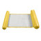 Foldable Water Hammock Single People Inflatable Backrest Beach Lounger Swimming Pool Bed - Yellow