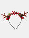 12 Pcs Christmas Children Hair Accessories Cute Cat Ears Elk Headdress Headband - #10