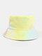 Women & Men Corduroy Multicolor Tie Dye Casual Soft Outdoor All-match Bucket Hat - #05