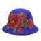 Cappello da donna in cotone lavorato a mano con ricamo cappello peonie da uomo