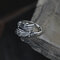 Vintage 925 Silver Tail Ring Domineering Skull Hand Men Ring Jewelry Gift - Silver