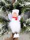 1Pc Christmas Decorations Angel Feather Pendant Plush Wings Sitting Pendant - #01