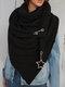 Женское Вельветовые повседневные шарфы с запахом шали Универсальный толстый теплый нагрудник с шалью - Черный