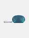 Men Genuien Leather Retro Mini Cute Hand-carry Storage Bag Coin Bag Wallet - Blue