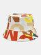 Lettera in cotone unisex Modello Stampa Colorful Cappello da pescatore fashion - bianca