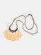 Bohemian Cotton Thread Tassel Long Necklace - #09