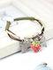 Ceramics Alloy Vintage Cute Fruit Cherry Strawberry Bracelet - #04