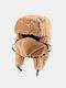 男性と女性の防寒冬用トラッパーハットマスクトラッパーハット付きの厚い冬用ハット耳栓 - #12