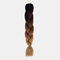 HalloweenColored Gradient Dirty Braids High Temperature Fiber Big Braids Ponytail Hair Extensions - 37