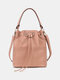 Classic Little Dot All-Over Decor String Exquisite Hardware Wearable Breathable Crossbody Bag - Pink