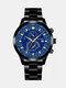 سبيكة غير القابل للصدأ أعمال فولاذية حزام كوارتز Watch تقويم ثنائي العين Watch - #01