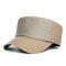 Hommes Réglable Vogue Coton Couleur Unie Plat Casquette Parasol Occasionnel À L'extérieur Chapeau En Pointe