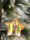 1Pc Christmas Ornament Lighted Wooden Walnut Soldier Pendant Small Tree Pendant Pendant - #04