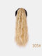 11 цветов кукуруза Пермский хвост Волосы Расширения пушистые длинные вьющиеся Парик шт. - #08