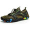 Men Outdoor Hiking Slip Resistant Soft Mesh Water Wading Shoes - Green