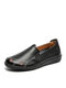 Solid Comfortable Hollow-out Single Shoes Floral Flats For Women - Black
