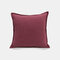 Solid Color Sofa Pillowcase Polyester Linen Creative Car Cushion Room Living Room Pillow - Rose