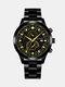 سبيكة غير القابل للصدأ أعمال فولاذية حزام كوارتز Watch تقويم ثنائي العين Watch - #05
